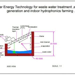 SOLAR ENERGY TECHNOLOGY FOR WASTE WATER TREATMENT AND ELECTRICITY